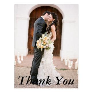 Obrigado da foto do casamento você cartão cartão postal