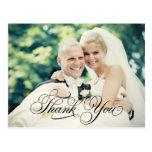 Obrigado da foto do casamento você cartão dos cart cartão postal