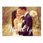 Obrigado da foto do casamento você cartão dos cartão postal