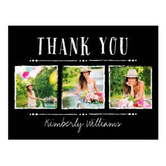 Obrigado da graduação da colagem da foto você cartão postal