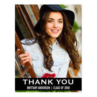Obrigado da graduação você cartão moderno BW da