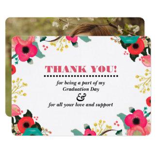 Obrigado da graduação você cartões com fotos convite 12.7 x 17.78cm