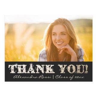 Obrigado da graduação você ouro do cartão |