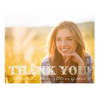 Obrigado da graduação você ouro do cartão   cartão postal