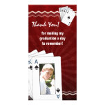 Obrigado da graduação você pás do póquer do cartão cartao com fotos
