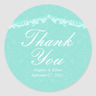 Obrigado da hortelã do Victorian você etiquetas Adesivo