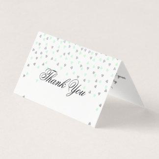 Obrigado da hortelã e da prata você dobra o cartão