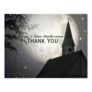 Obrigado da igreja do país da lua da noite você convite 10.79 x 13.97cm