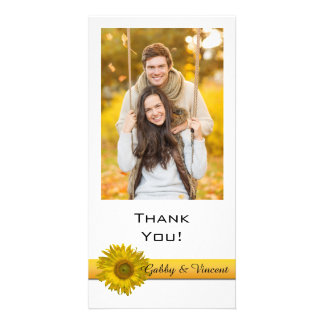 Obrigado da listra do girassol você cartão com