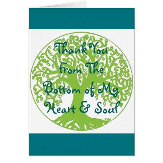 Obrigado da parte inferior meu cartão do coração e