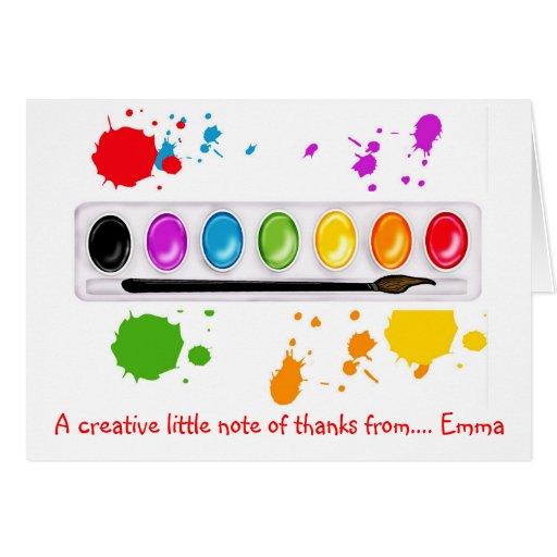 Obrigado da pintura da arte você cartões de nota