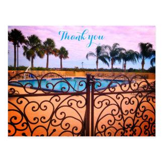 Obrigado da piscina você cartão cartão postal