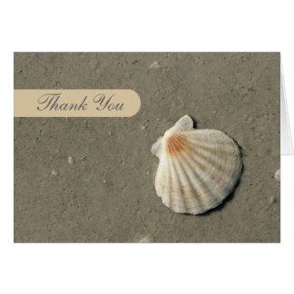 Obrigado da praia você cartões