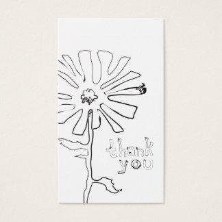 obrigado da referência você flor do squiggle cartão de visitas