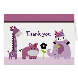 Obrigado da selva do Hopscotch você cartões de