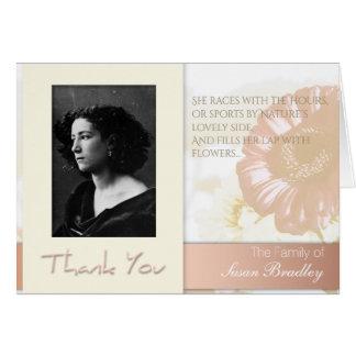 Obrigado da simpatia da foto do quadro das flores cartão de nota