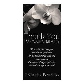 Obrigado da simpatia da orquídea 2b você cartão