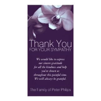 Obrigado da simpatia da orquídea 3b você cartão
