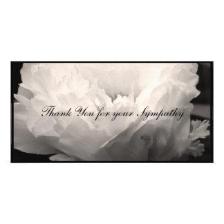 Obrigado da simpatia da peônia você cartão com cartão com foto