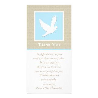 Obrigado da simpatia da pomba você cartão com