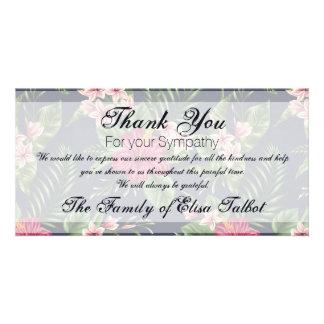 Obrigado da simpatia do hibiscus você cartão com