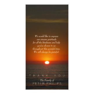 Obrigado da simpatia do por do sol você cartão com