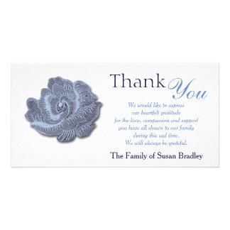 Obrigado da simpatia do rosa do azul do vintage cartão com foto