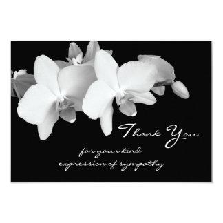 Obrigado da simpatia você cartão liso - orquídeas convite personalizado