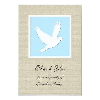 Obrigado da simpatia você cartão liso - pomba convites