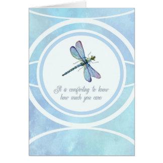 Obrigado da simpatia você conforto da libélula cartão