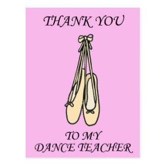 Obrigado dança o professor, sapatas de balé cartão postal