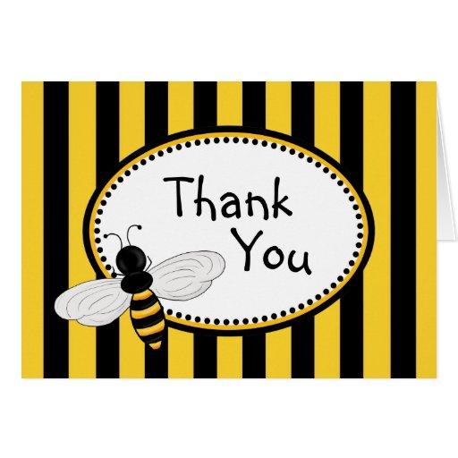 Obrigado das abelhas de Buzzzing você cartões de n