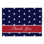 Obrigado das estrelas da bandeira americana você c cartao