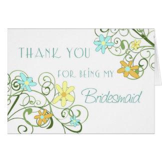 Obrigado das flores do jardim você cartão da dama