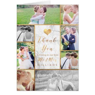 Obrigado das fotos do casamento de PixDezines Cartão Comemorativo