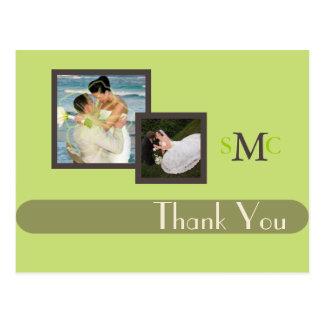Obrigado das fotos do casamento você cartão, cartão postal