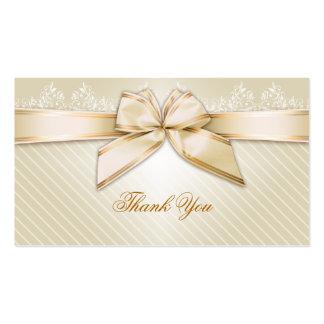 Obrigado das listras do ouro da fita do marfim voc modelo cartoes de visitas