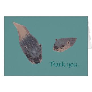 Obrigado das lontras da natação você cartões