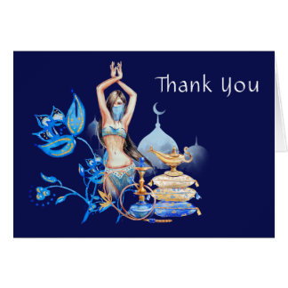 Obrigado das noites árabes você cartões