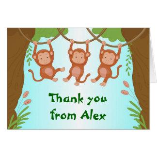Obrigado de balanço dos macacos você cartão de