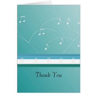 Obrigado de dança das notas musicais você cartão de nota