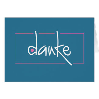 Obrigado de Danke você em algum cartão de nota da