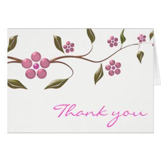 Obrigado de florescência da flor | você cartão comemorativo