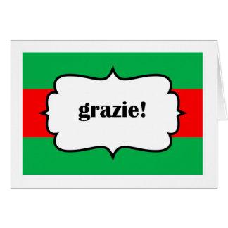 Cartão Obrigado de Grazie você no cartão de Italiano