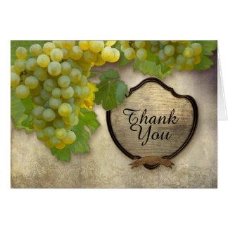 Obrigado de harmonização você nota a uva de cartão comemorativo