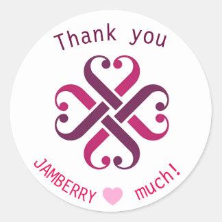 Obrigado de Jamberry você selos de envio pelo Adesivo