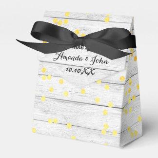 Obrigado de madeira branco do favor do casamento caixinha de lembrancinhas