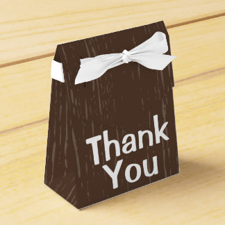 Obrigado de madeira rústico de Brown você - Caixinha De Lembrancinhas