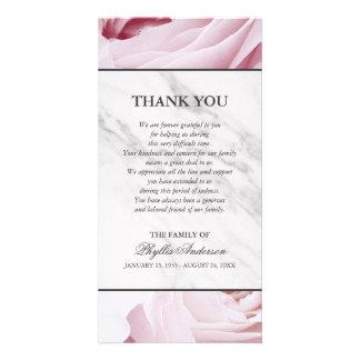 Obrigado de mármore branco da cerimonia cartão com foto