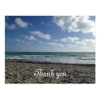 Obrigado de Miami Beach você cartão